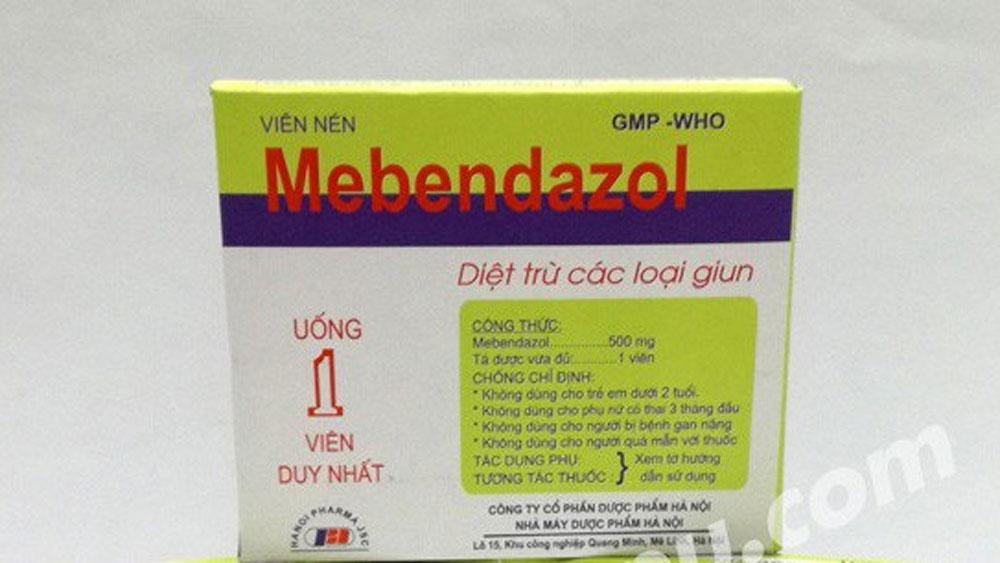 Thu hồi 1 loại thuốc tẩy giun nội