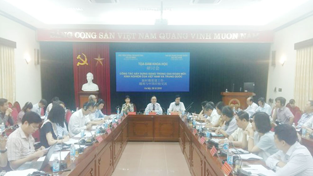 Int'l seminar highlights Party building experience of Vietnam, China