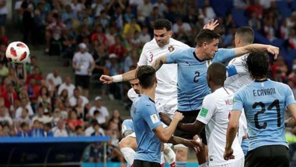 Uruguay loại Bồ Đào Nha 2-1