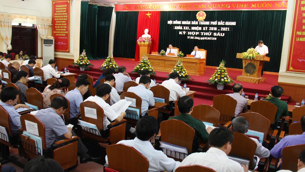 Kỳ họp thứ 6 HĐND TP Bắc Giang: Thảo luận, xem xét nhiều nội dung quan trọng
