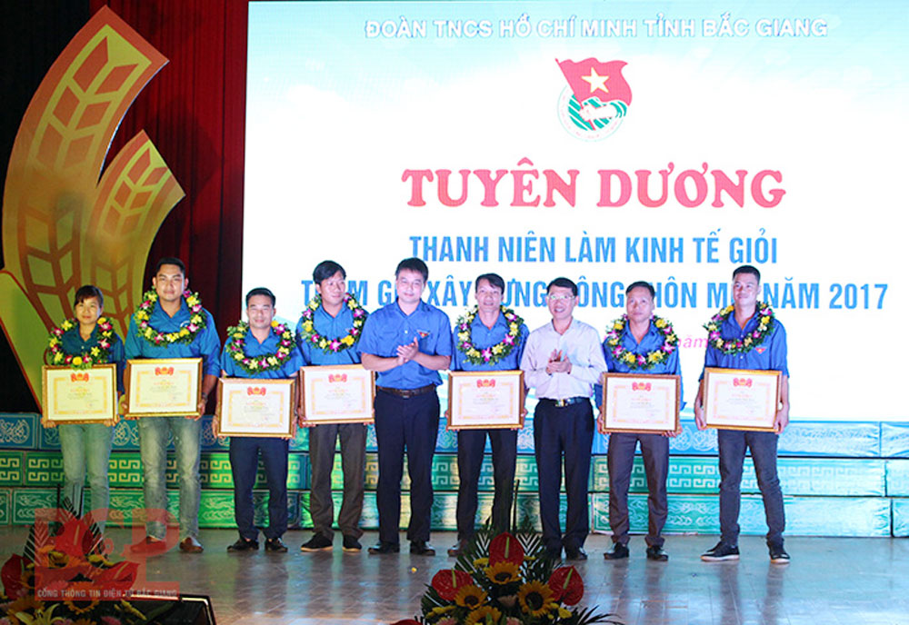 Bac Giang province, role of youth, starting business, socio-economic development,  national defence, youth clubs, economic development models, average income, safe vegetable production