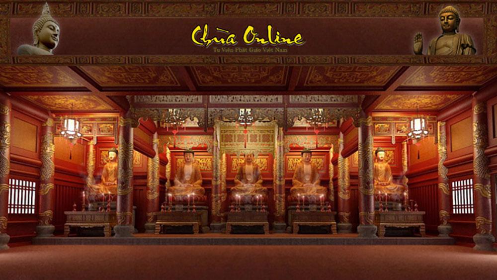 Thời buổi online, đi chùa cũng có thể đi trên... mạng!