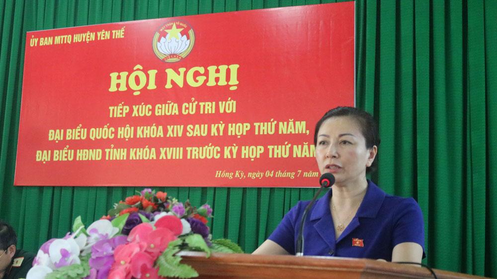 Đại biểu Quốc hội tiếp xúc cử tri huyện Yên Thế: Quan tâm ổn định thị trường nông sản