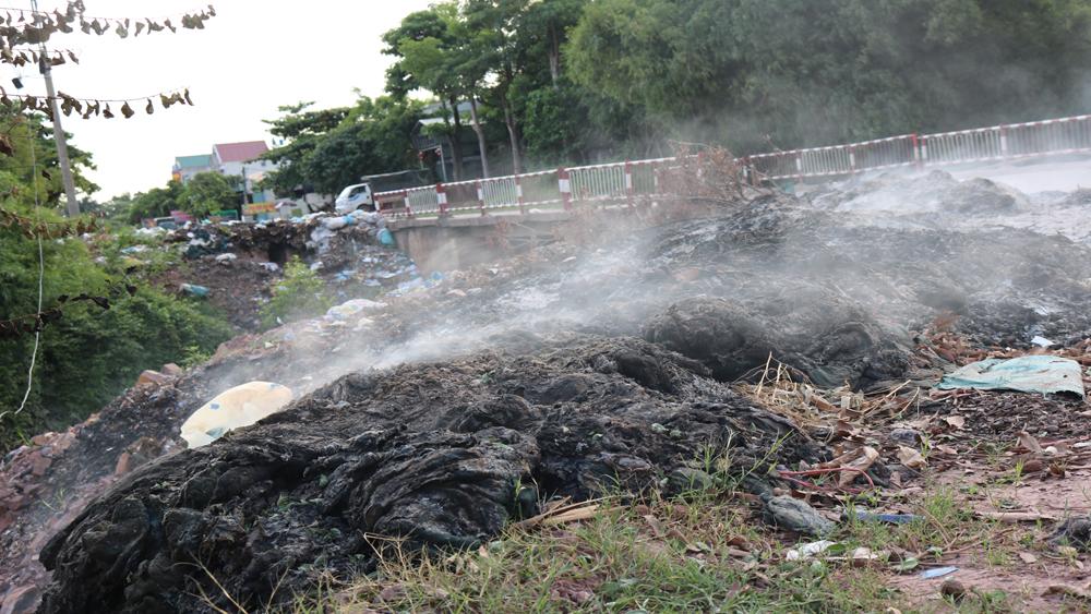 rác thải, Lục Ngạn, vải thiều, môi trường