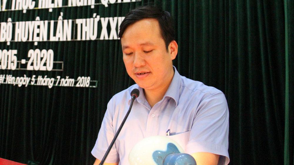Việt yên, huyện ủy, nhiệm kỳ