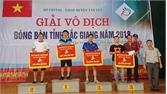 Đoạt giải Nhì đồng đội Nam bóng bàn tỉnh Bắc Giang