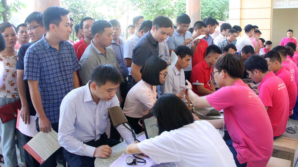 Hành trình đỏ, kết nối những trái tim nhân ái, Bắc Giang