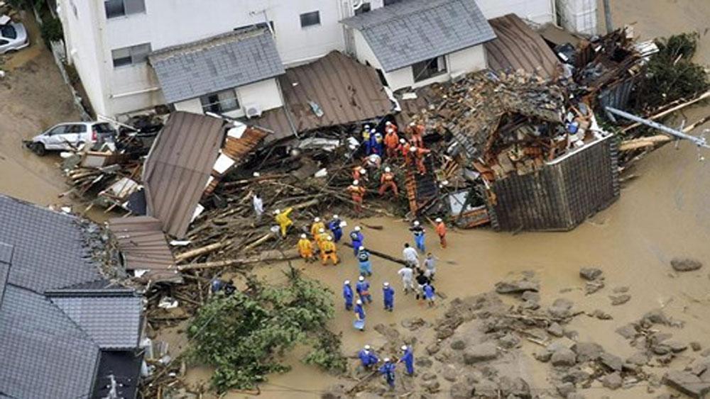 Số người thiệt mạng do mưa lũ tại Nhật Bản tăng nhanh
