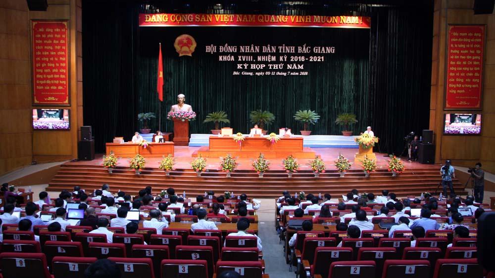Khai mạc kỳ họp thứ 5, HĐND tỉnh Bắc Giang khóa XVIII