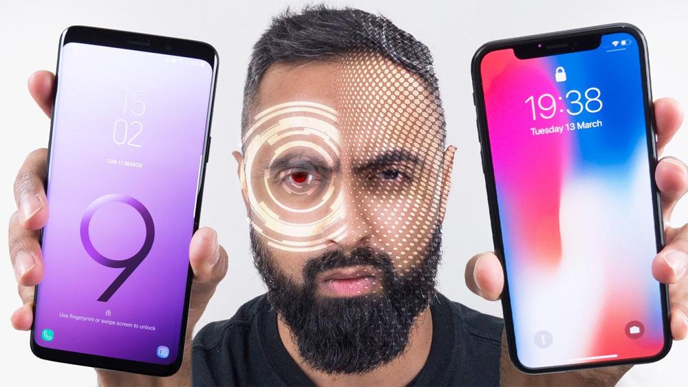 Điện thoại Samsung, Face ID, iPhone X, sinh trắc học