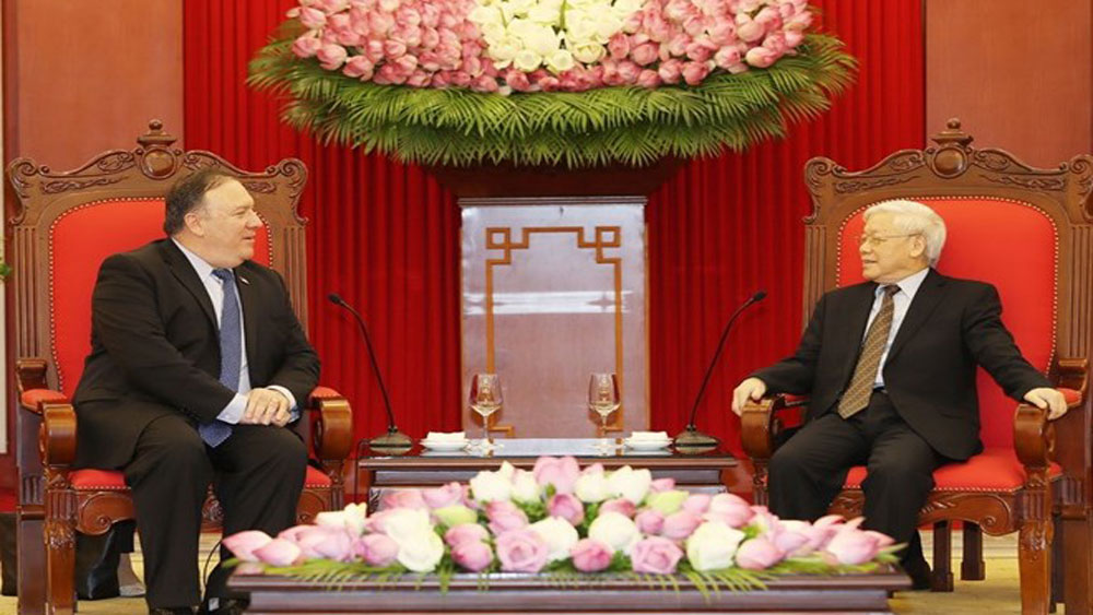 Party chief, US Secretary, Communist Party of Vietnam, first visit, Southeast Asian country, regional issues, fruitful and diverse cooperation