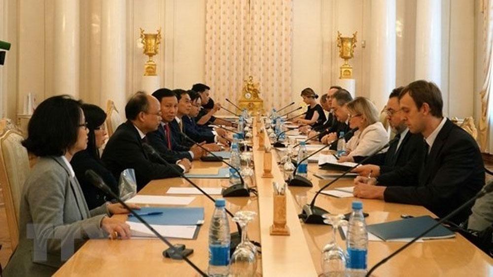 Vietnam, Russia, 10th strategic dialogue, Moscow, comprehensive strategic partnership, various fields, political dialogues, international arena