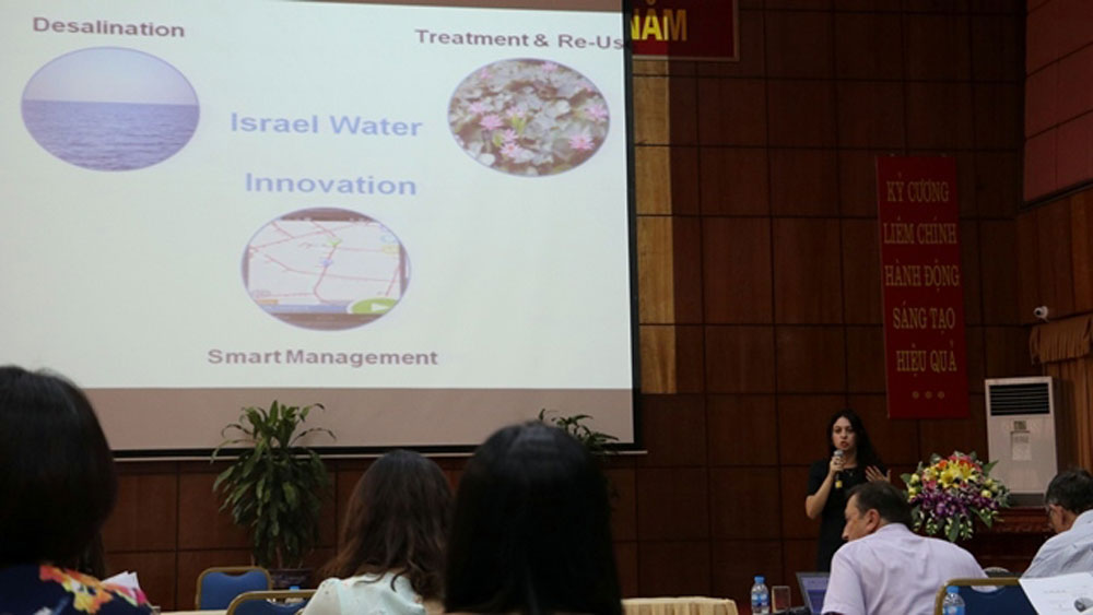 Israeli water saving and wastewater treatment shared with Vietnam
