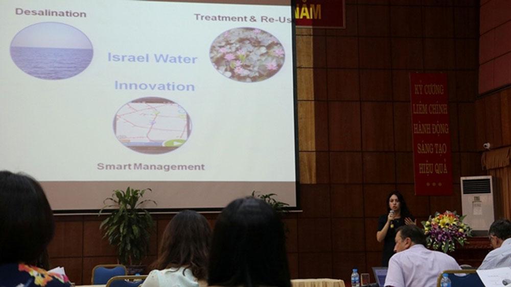 Israeli water saving, wastewater treatment, Vietnam, water management solutions, Vietnamese side, 25th anniversary, diplomatic relations
