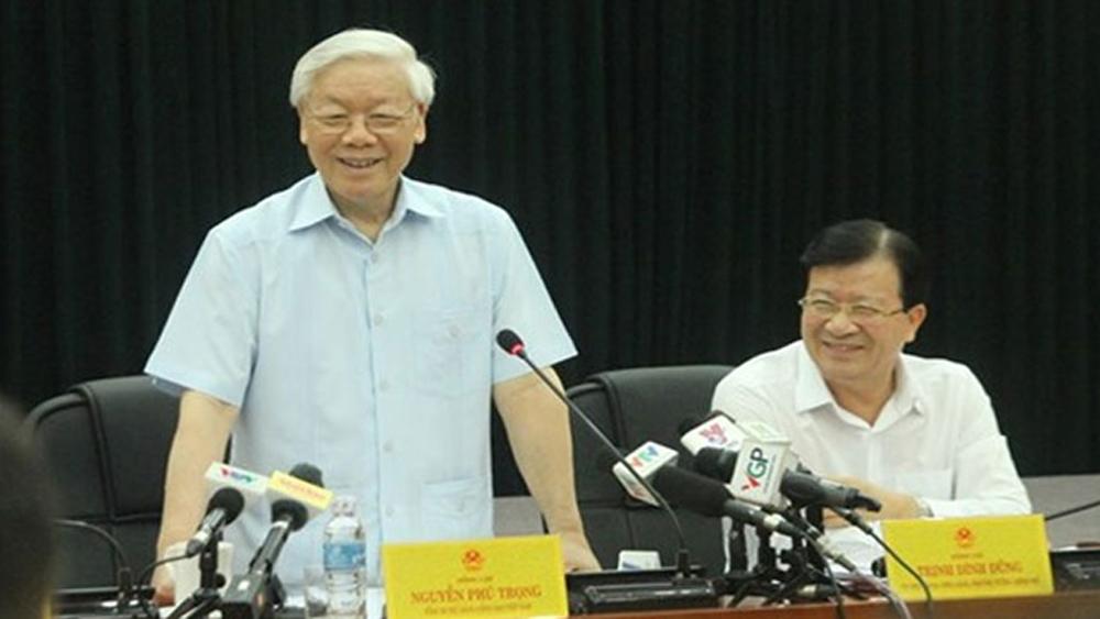 Tổng Bí thư nghe Bộ trưởng Công Thương báo cáo về cắt giảm điều kiện kinh doanh