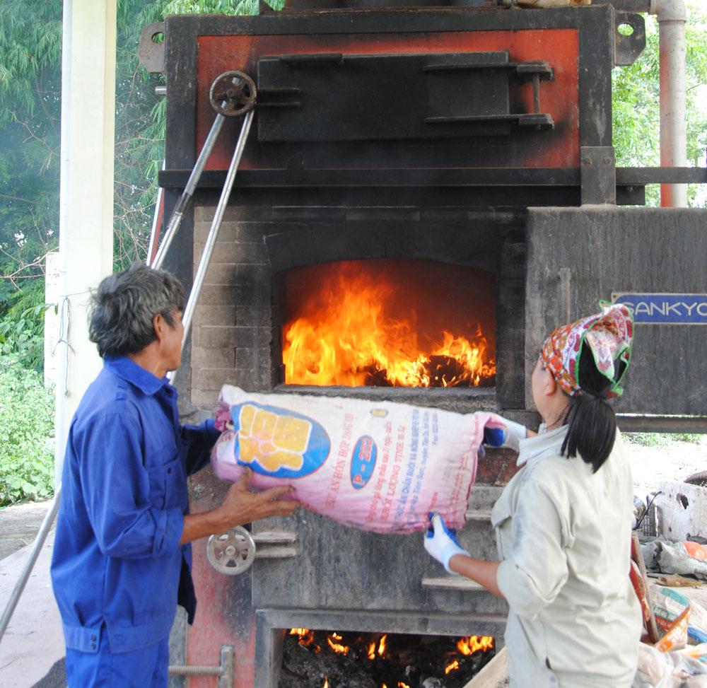 Nhã nam, Tân Yên, Bắc Giang, thu gom rác thải, môi trường