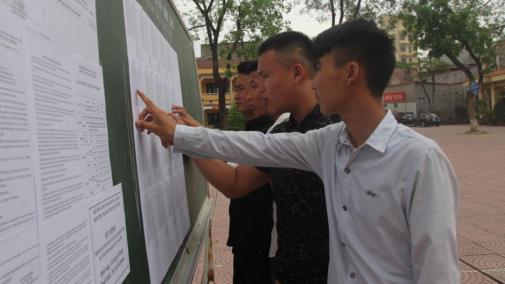 Bắc Giang, Sở Giáo dục và Đào tạo, công bố điểm thi THPT quốc gia năm 2018, điểm 10