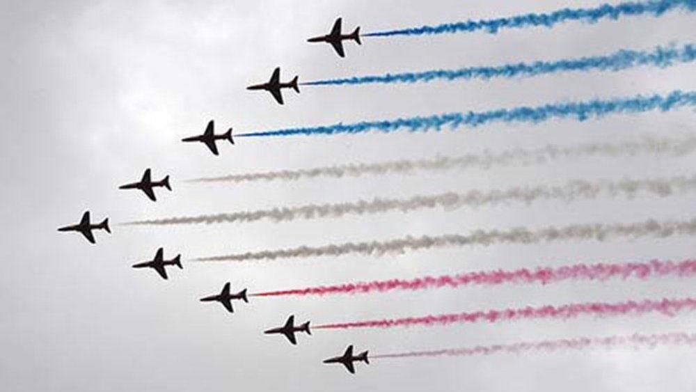 Màn trình diễn ấn tượng kỷ niệm 100 năm Không quân Hoàng gia Anh