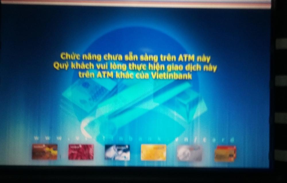 Buổi tối, chất lượng dịch vụ ATM,