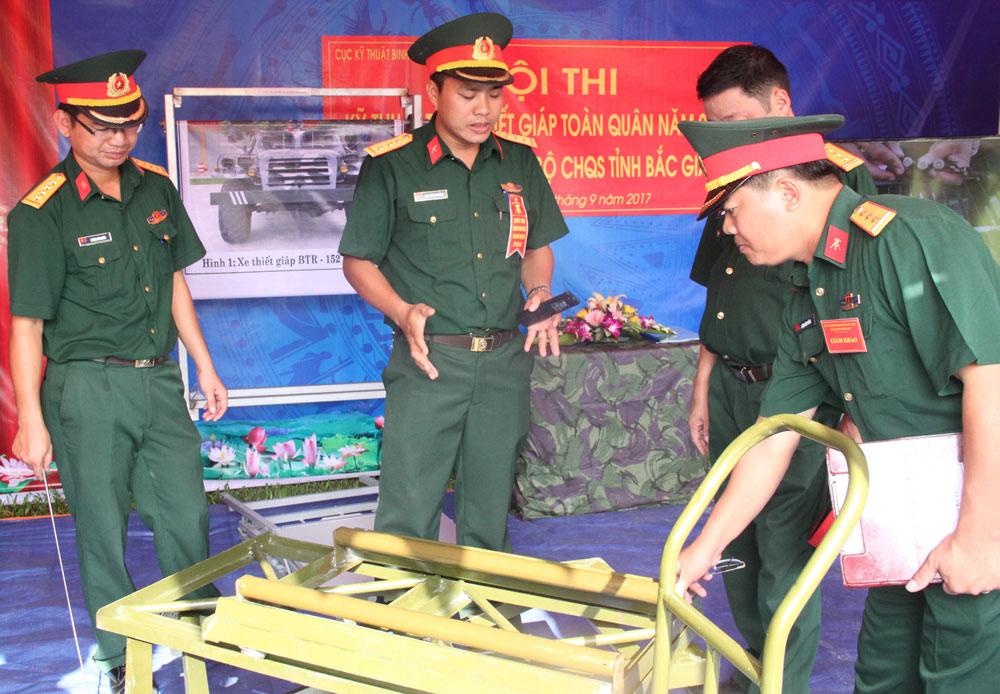 Bộ CHQS tỉnh Bắc Giang, học và làm theo Bác, sáng kiến