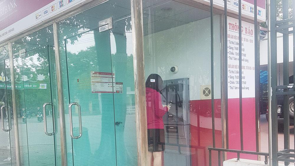 Cây ATM,  Ngân hàng Nông nghiệp- PTNT, không giao dịch được, lỗi hệ thống