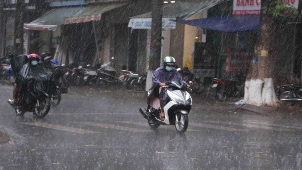 Khu vực Bắc Bộ, Bắc Trung Bộ, mưa to, nhiệt độ, giảm nhẹ