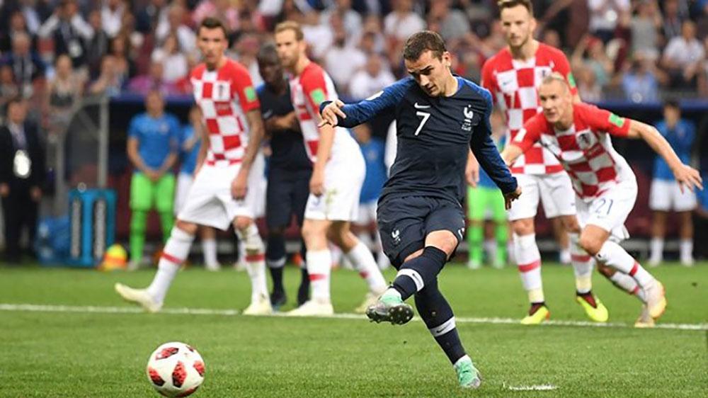 Griezmann đã có 3 bàn từ chấm phạt đền ở World Cup năm nay.