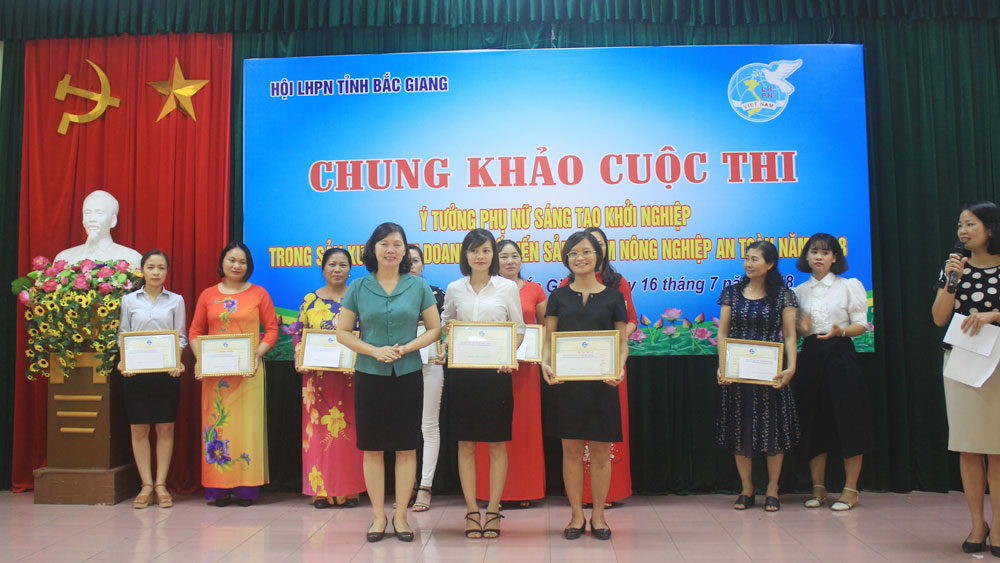 Da Mai ward, dried vermicelli, first prize, Women's Startup Idea Contest, Bac Giang province, safe farm produces, execution method