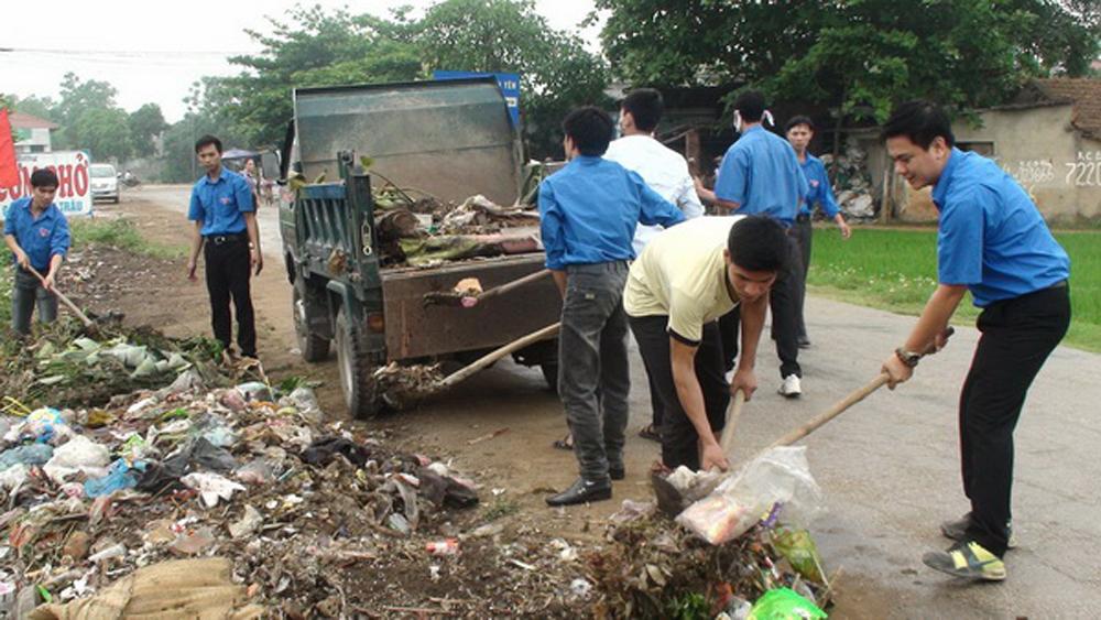 Lục Nam duy trì định kỳ vệ sinh môi trường