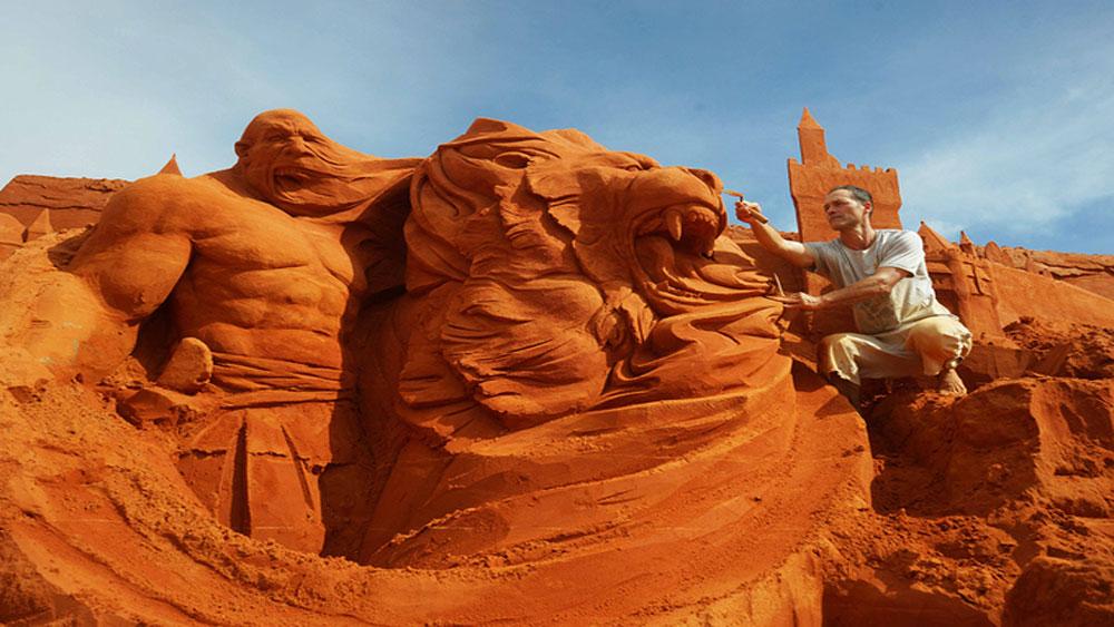 Vietnam's first sand statue park sculpts timeless tales