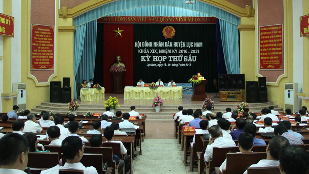 HĐND huyện Lục Nam thông qua 9 nghị quyết