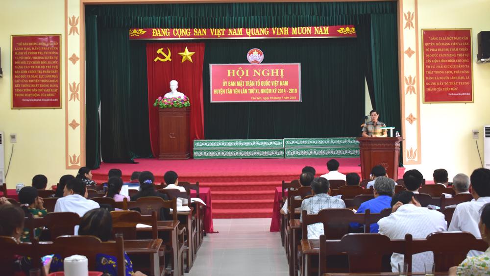 Ủy ban MTTQ huyện Tân Yên triển khai nhiệm vụ những tháng cuối năm