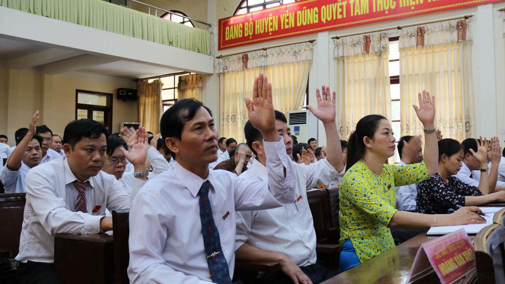 Kỳ họp thứ 8, HĐND huyện Yên Dũng thông qua 9 nghị quyết