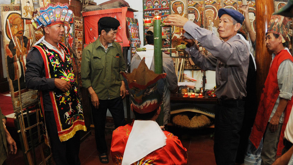 Lễ cấp sắc của đồng bào dân tộc Dao, xã Tuấn Mậu