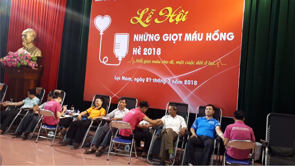 Lục Nam hiến 340 đơn vị máu tình nguyện