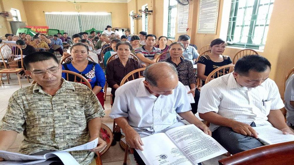 Đối thoại với các hộ dân xã Biển Động có đất thu hồi thực hiện dự án khu dân cư