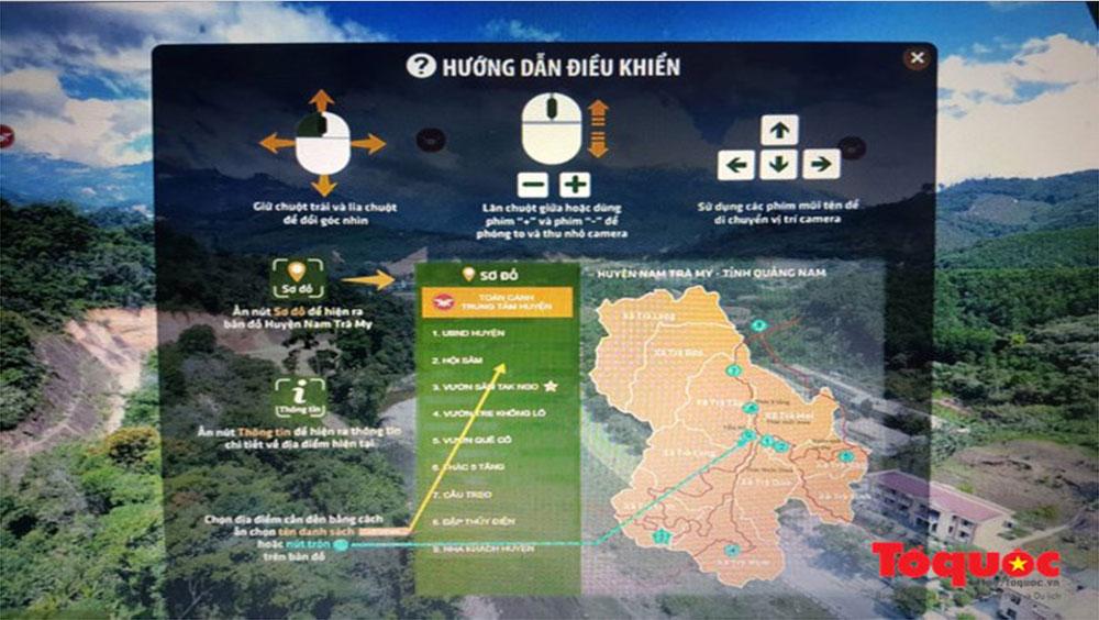 Cổng thông tin thực tế ảo du lịch vùng sâm tại Quảng Nam