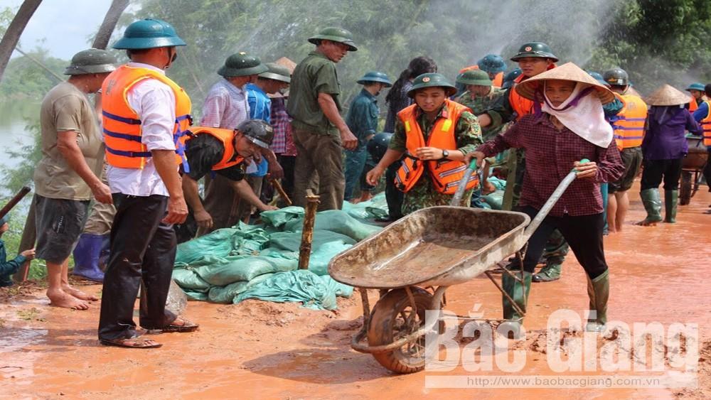 Diễn tập phòng chống thiên tai tại xã Dương Đức, Mỹ Hà