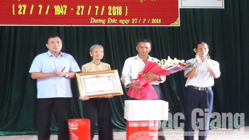 """Lạng Giang tổ chức lễ truy tặng danh hiệu """"Bà mẹ Việt Nam Anh hùng"""""""