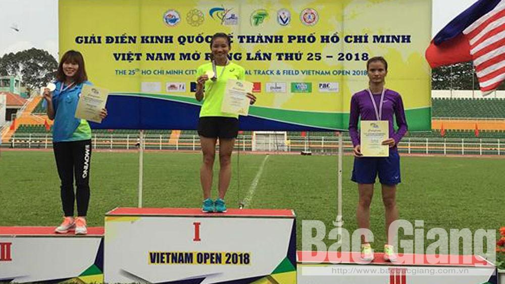 Giải điền kinh quốc tế TP Hồ Chí Minh mở rộng 2018: Đoàn Bắc Giang giành thêm 1 HCV