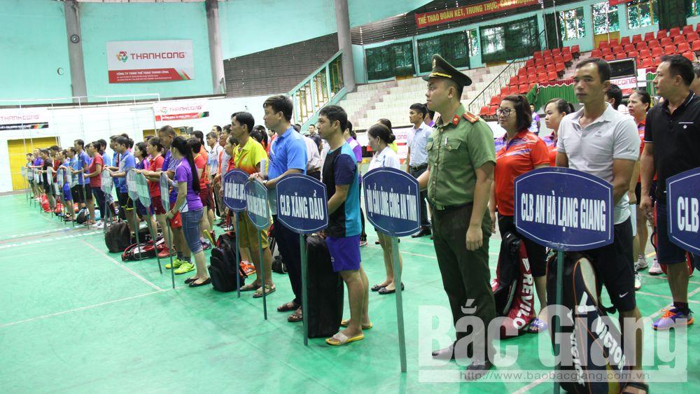 300 VĐV tranh tài tại Giải vô địch cầu lông các câu lạc bộ tỉnh Bắc Giang mở rộng