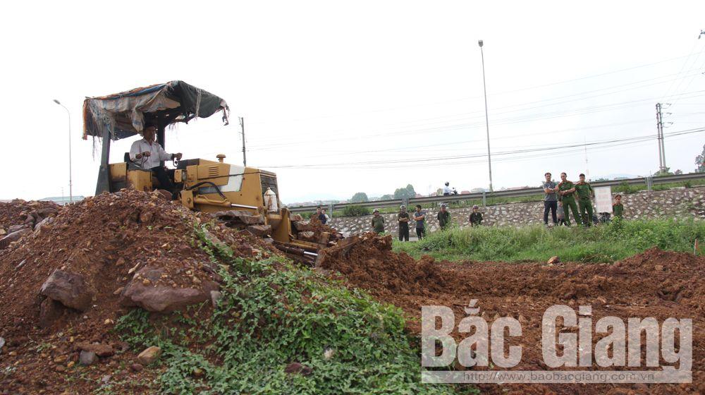 Cưỡng chế thu hồi đất thực hiện dự án khu dân cư thôn Mỹ Cầu