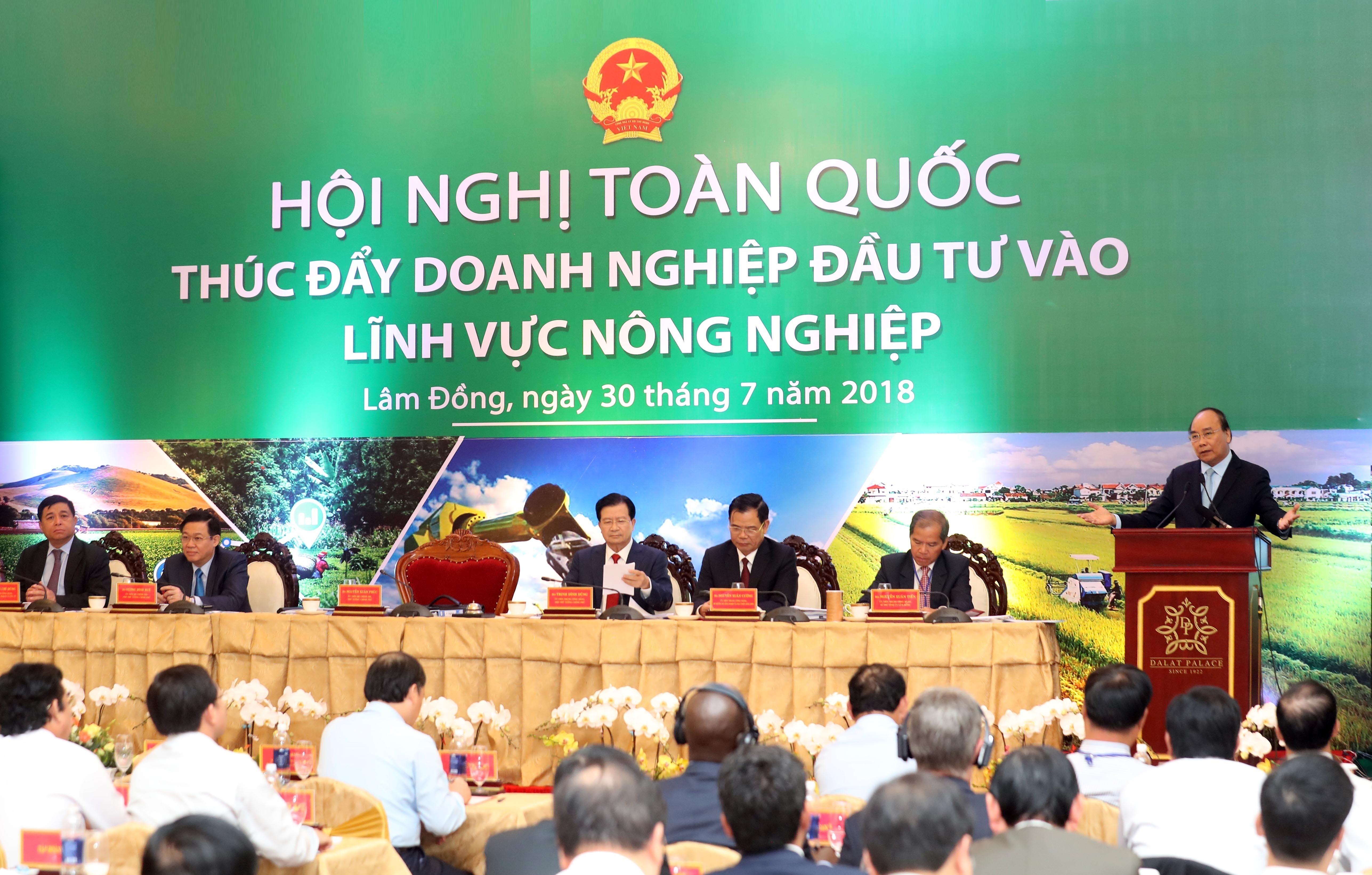 Thủ tướng Chính phủ phát biểu tại hội nghị.