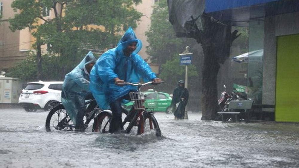 Các tỉnh Bắc Bộ và thủ đô Hà Nội tiếp tục có mưa to đến rất to
