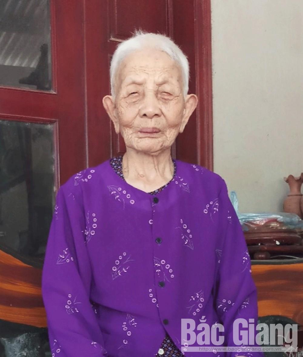 Bắc Giang, Trần Thị Bé, chế độ người có công