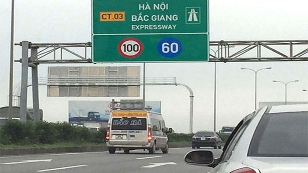 Xử lý nghiêm các trường hợp đón, trả khách sai quy định trên tuyến đường cao tốc Hà Nội – Bắc Giang