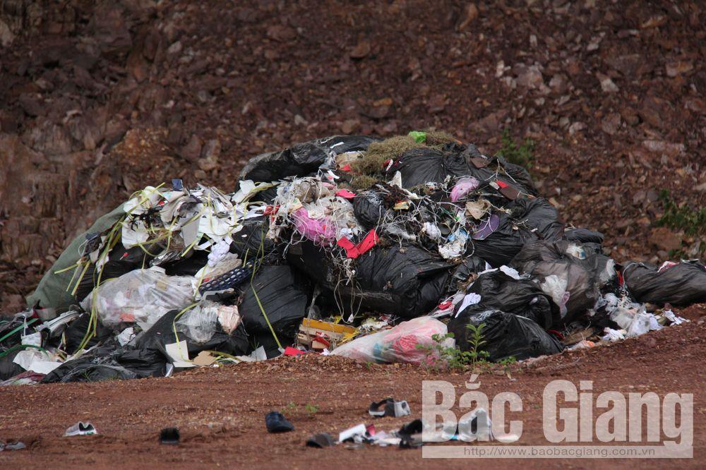 Đốt trộm,phế liệu, ô nhiễm môi trường, Xương Lâm, Lạng Giang