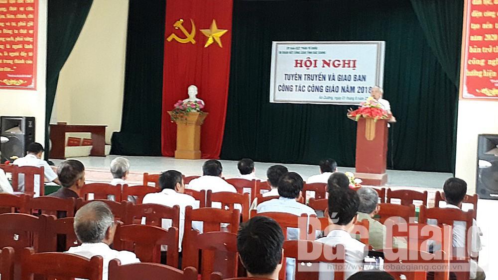 Tân Yên: Tuyên truyền và giao ban công tác Công giáo năm 2018