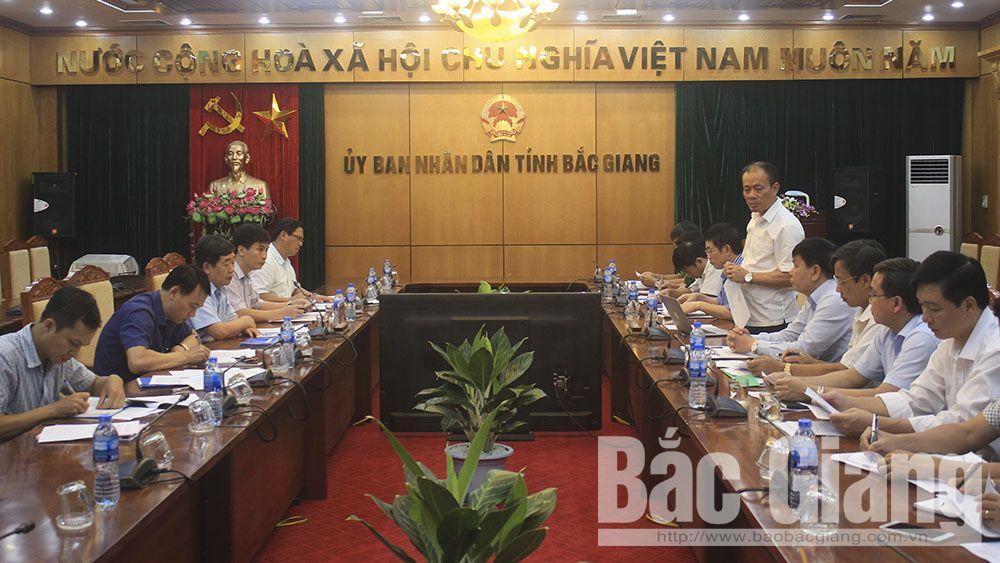 Đoàn công tác của Ủy ban Quốc gia về thanh niên làm việc tại Bắc Giang