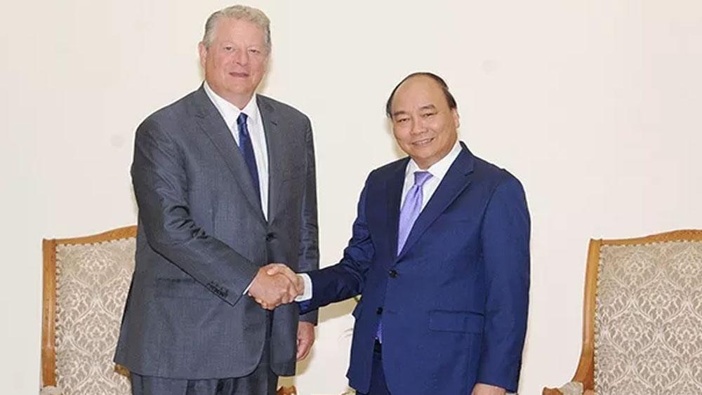Thủ tướng Nguyễn Xuân Phúc tiếp cựu Phó Tổng thống Hoa Kỳ An Go